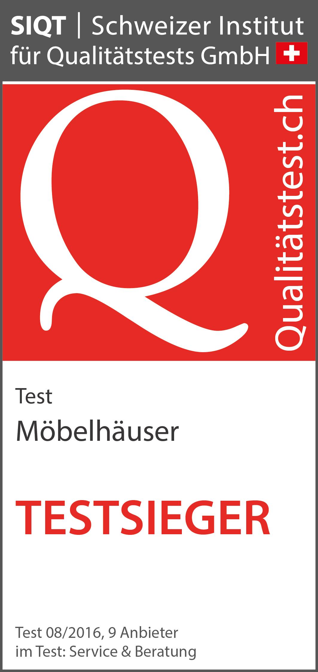Möbelhäuser 2016 Test Von Service Beratung Siqt